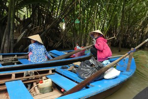 Boostsfahrt im Mekong-Delta