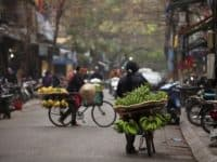 Obsthändler in Hanoi