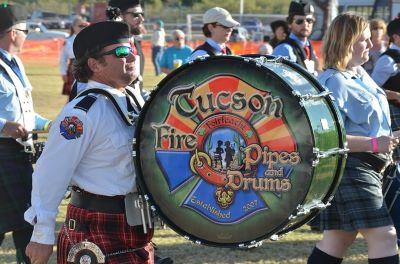 Musikgruppe bei den Highland Games