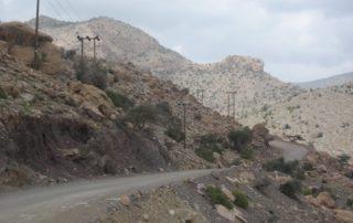 Strasse auf den Jebel Shams
