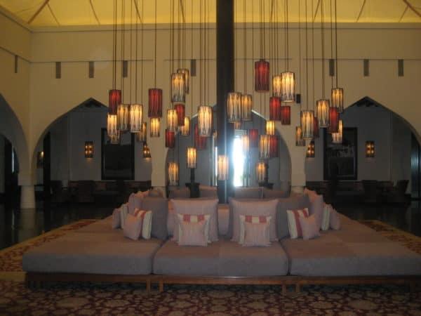 Lobby als Beduinen-Zelt