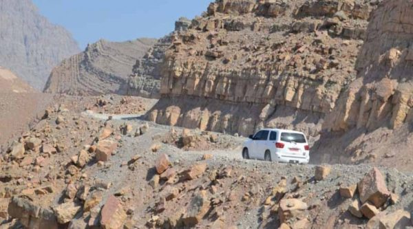 Fahrt auf den Jebel Hareem