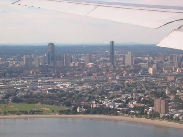 Landung in Boston